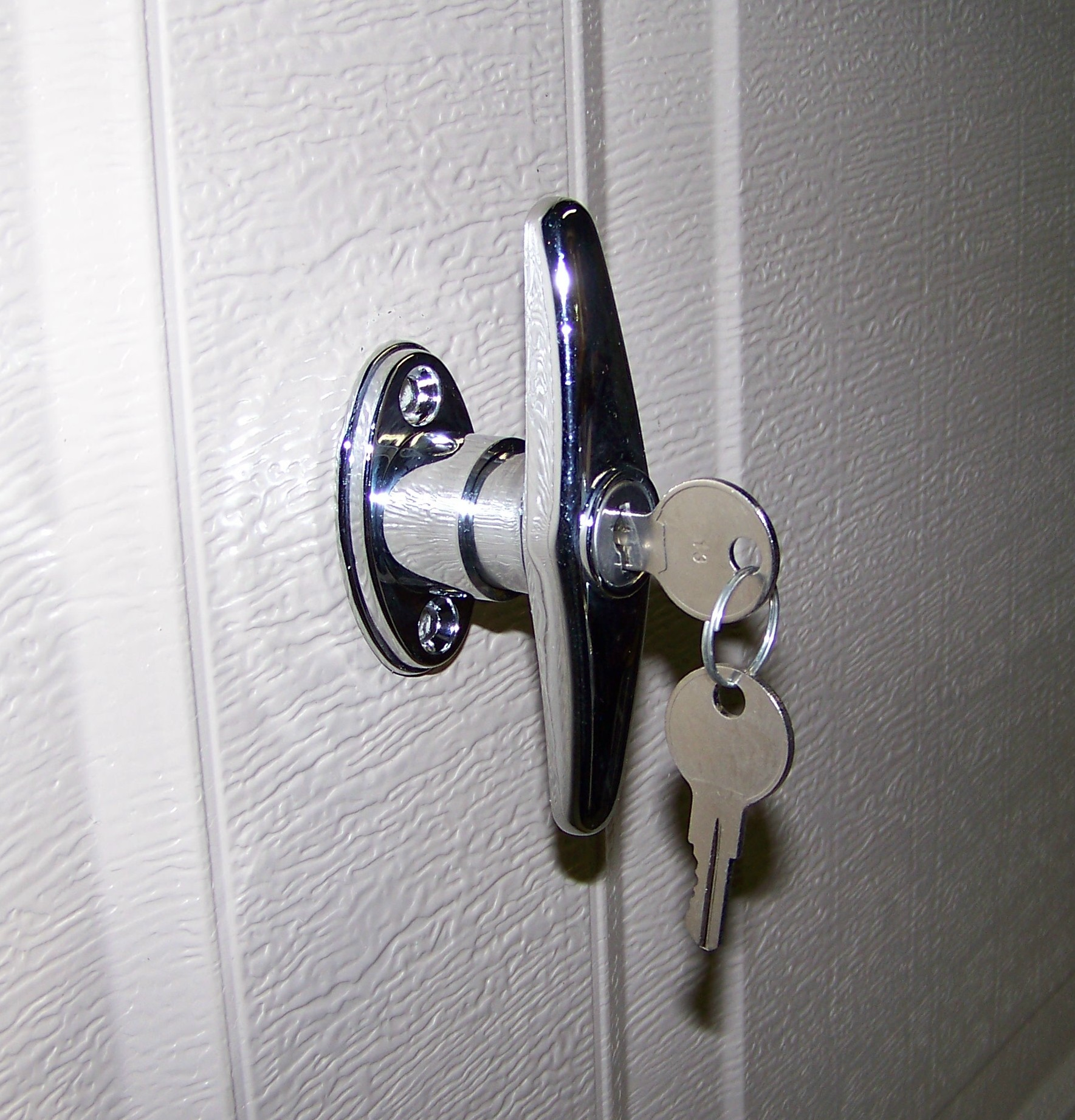 Garage door lock for Door handle with lock