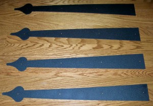 Garage Door Decorative Steel Hinges Layout