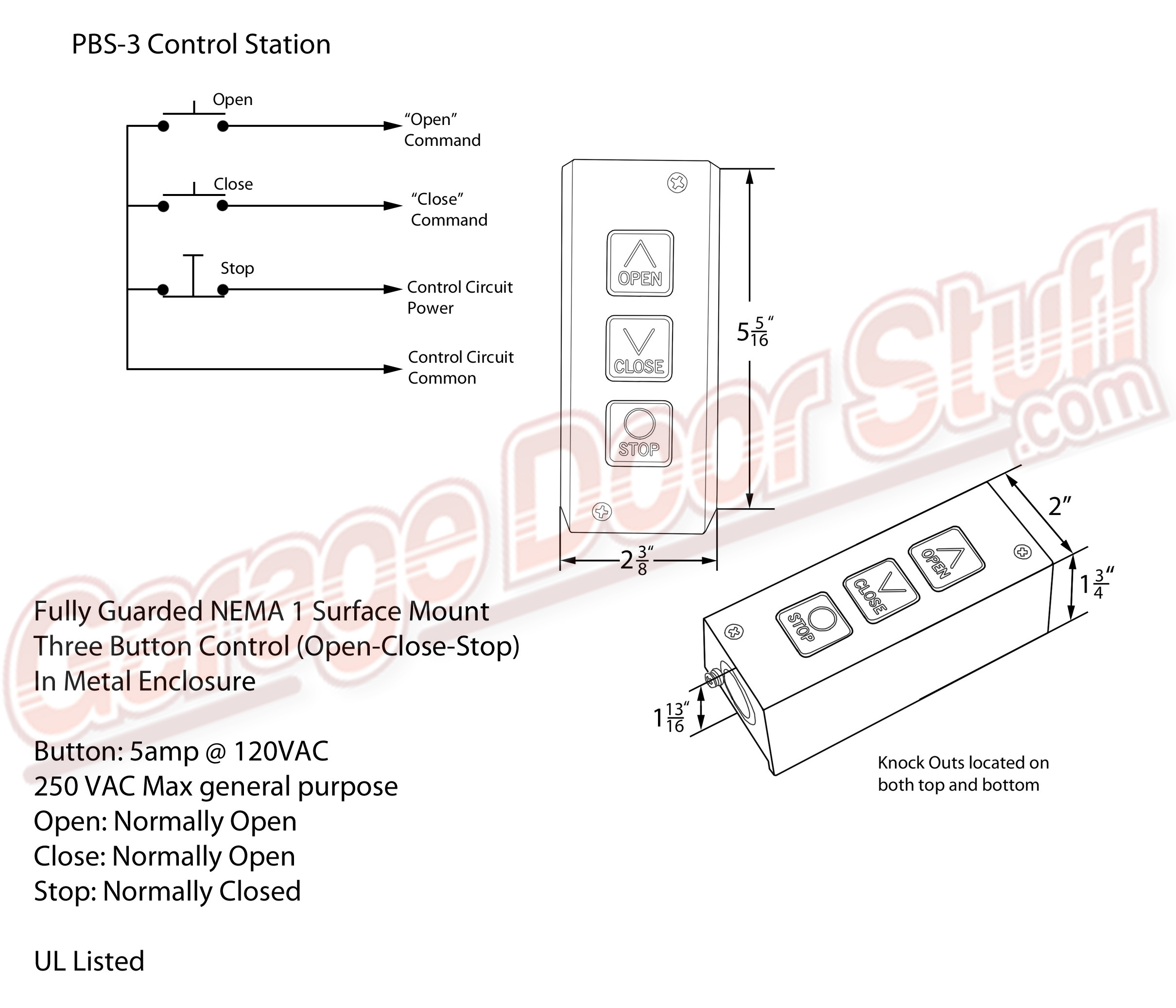 third switch overhead door open close stop control open close stop switch wiring diagram at mifinder.co