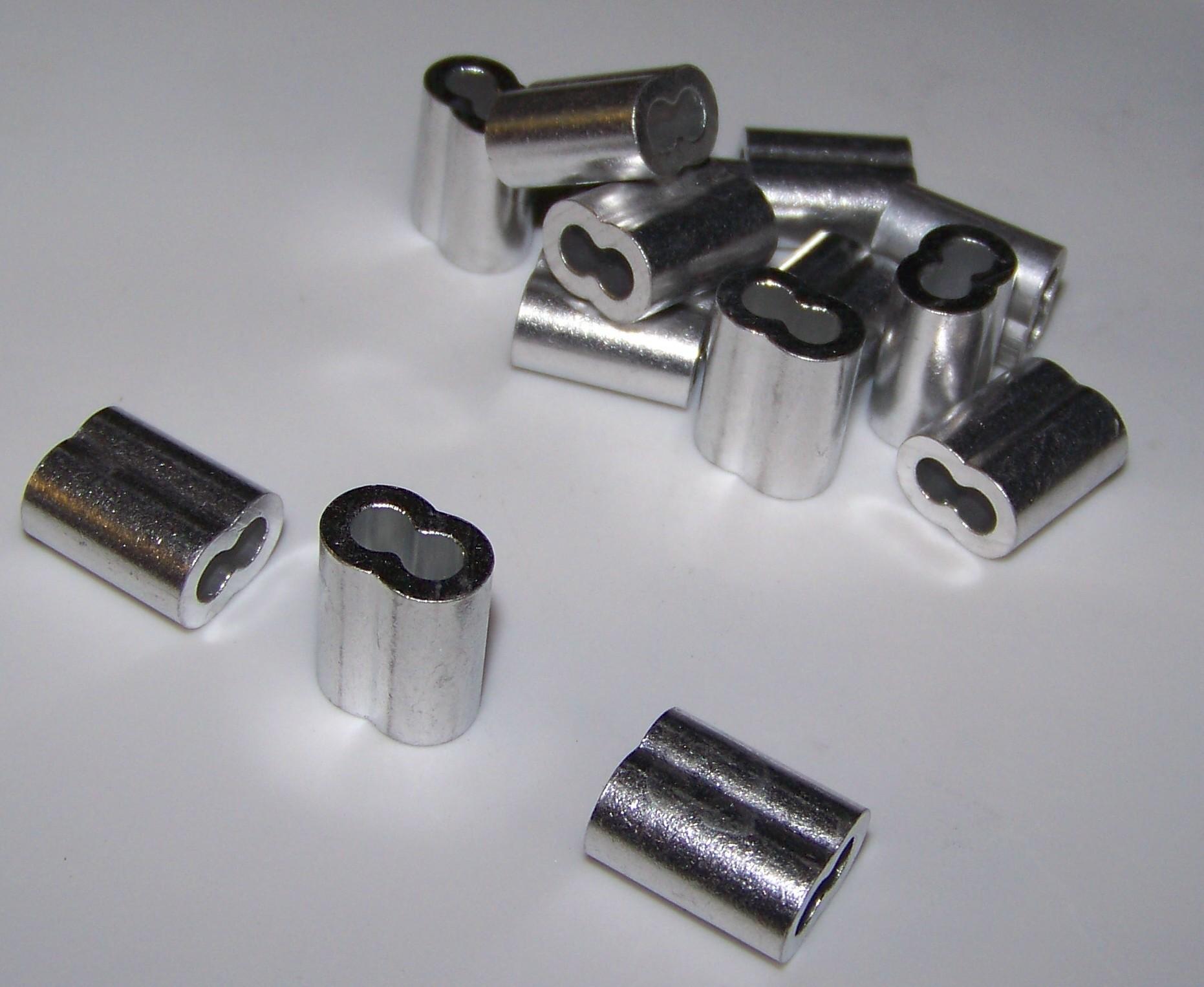 ″ aluminum cable crimps splicing sleeves