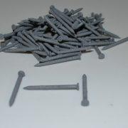 Gray Colored Nails