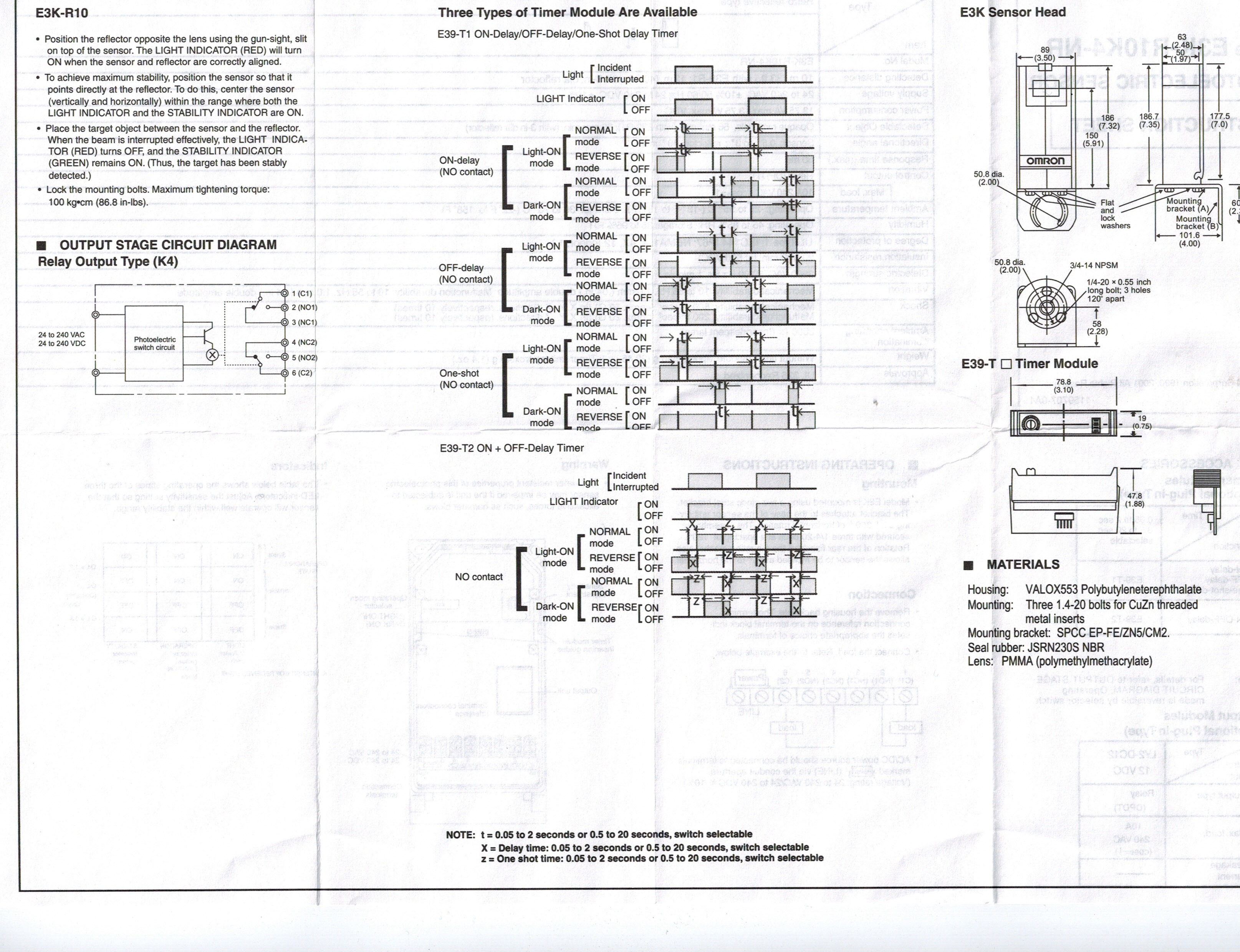 Omron Ek3 Photocell Garage Door Stuff Drive Wiring Diagram