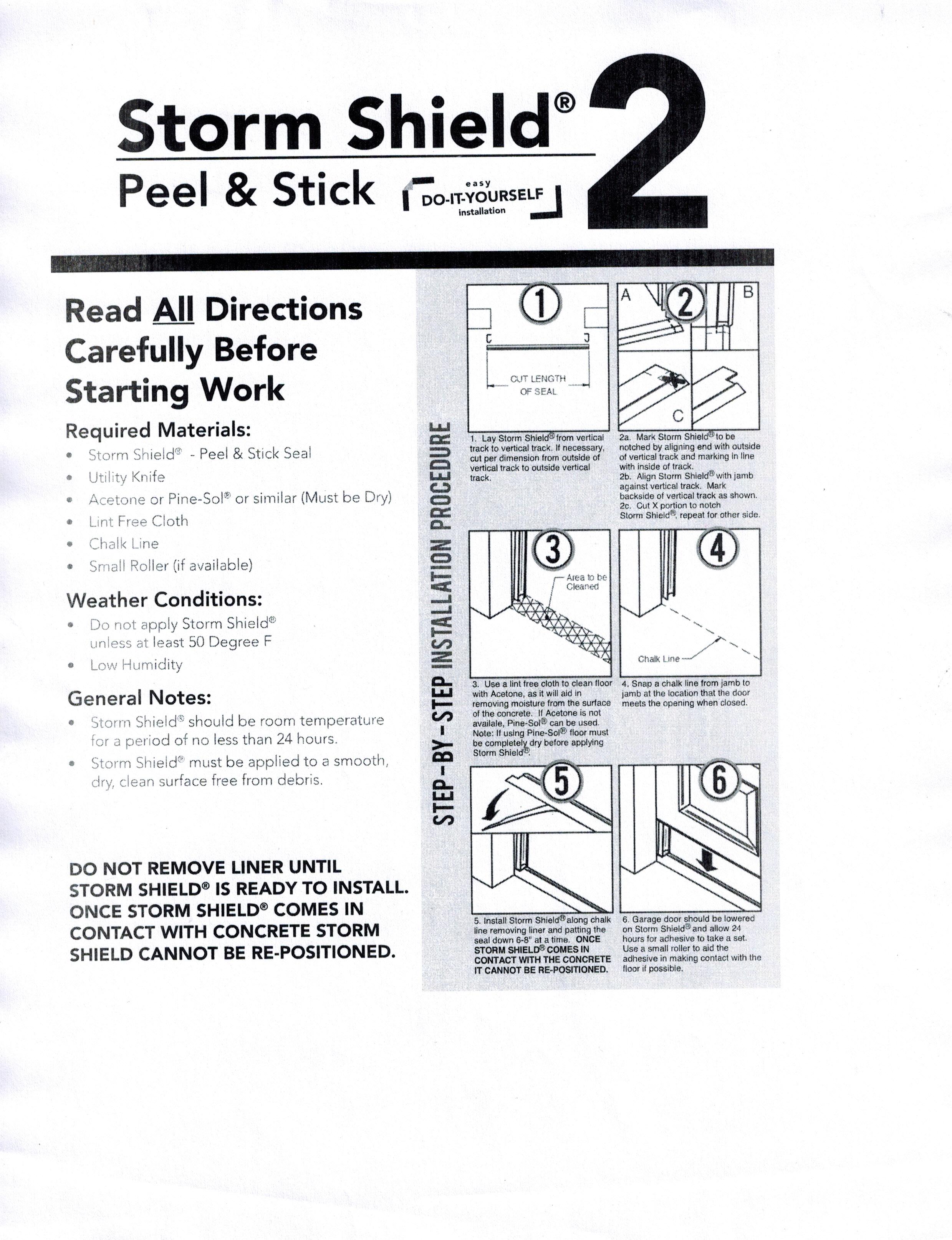 Garage Door Seal Peel Stick Gray