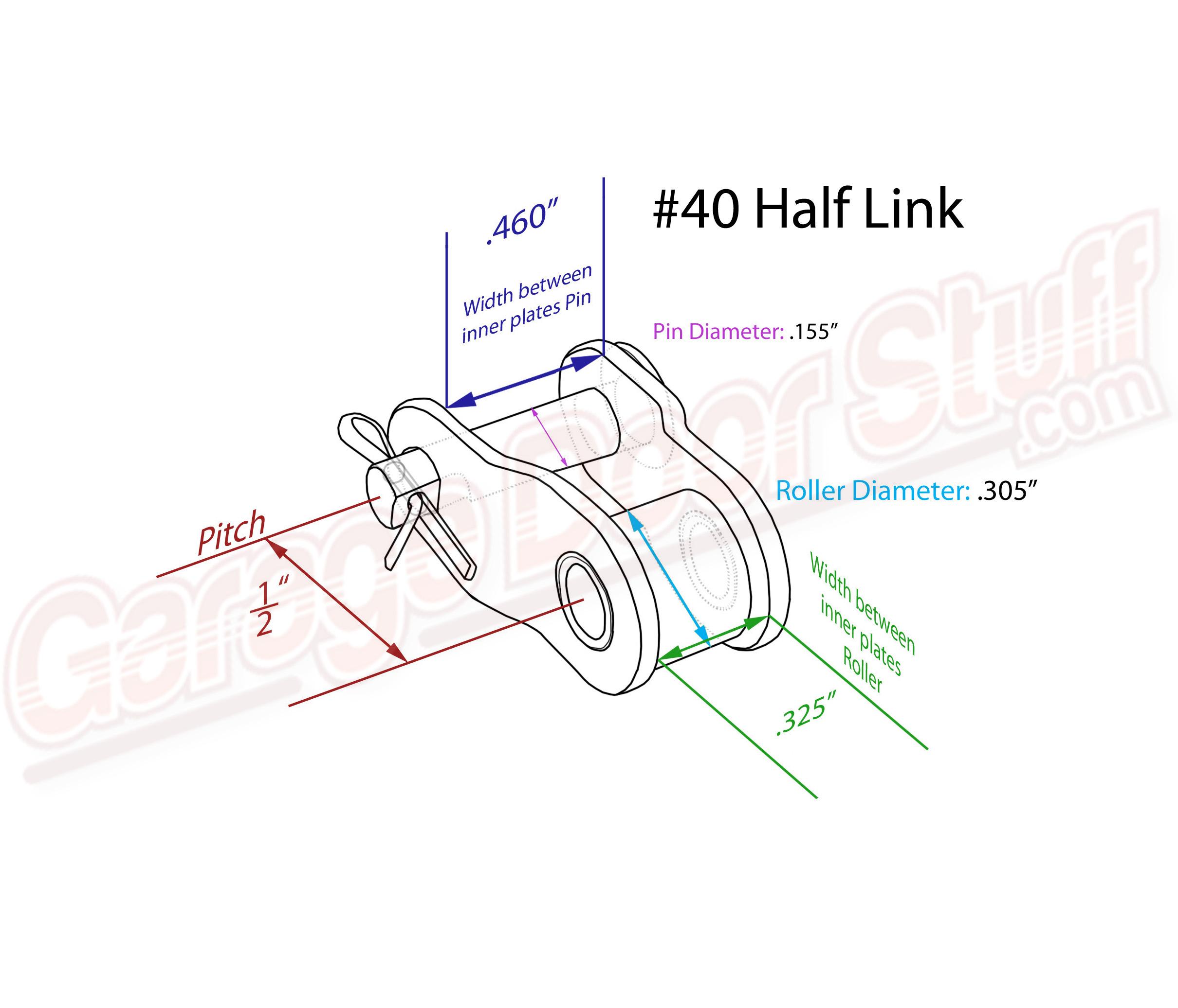 Roller Chain Half Link 40 Garage Door Stuff Chain Links