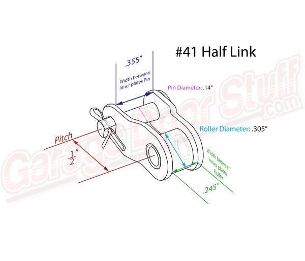 Roller Chain Half Link #41