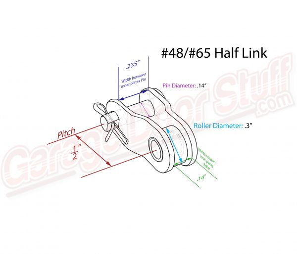 Roller Chain Half Link #48