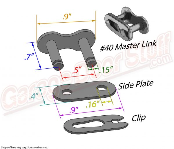 Roller Chain Master Link #40