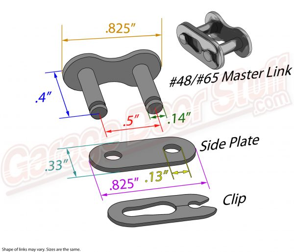 Roller Chain Master Link #48