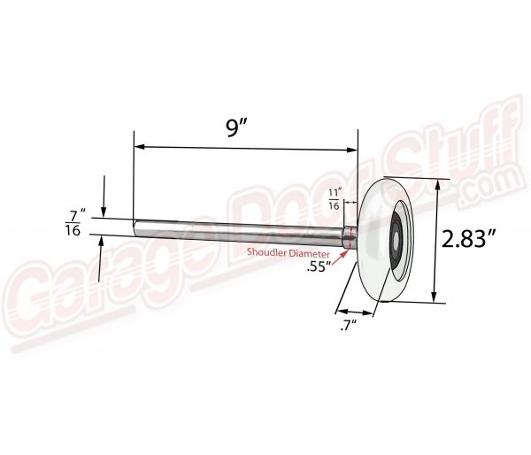 "Garage Door Rollers 3"" Long Stem Nylon"