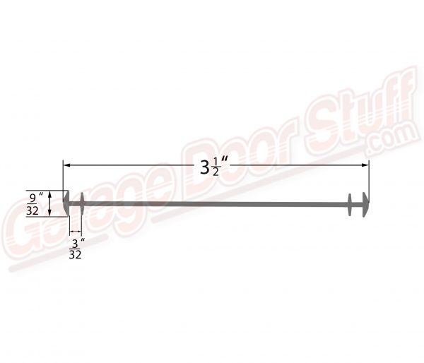 Midland Garage Door Bottom Weather Seal Line Drawing