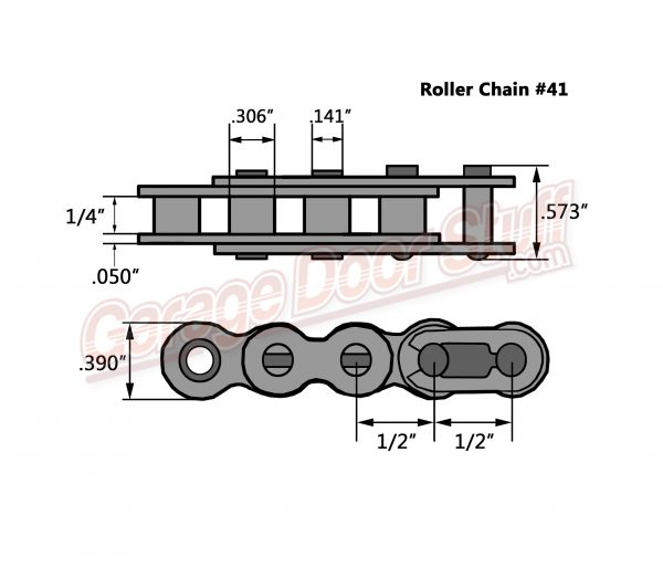 Roller Chain #41 Line Drawing