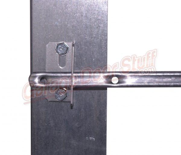 Garage Door Lock Bar Guide on door