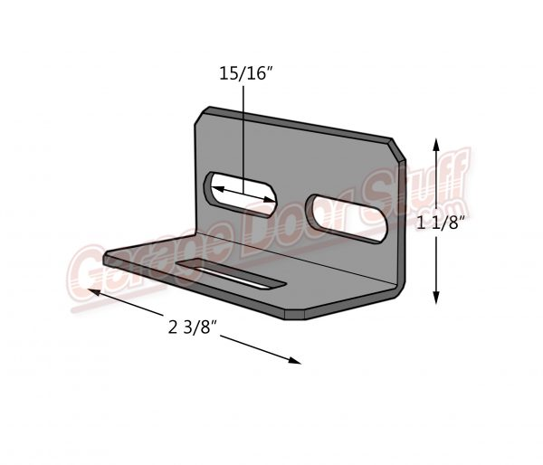 Garage Door Lock Bar Guide on door Line Drawing