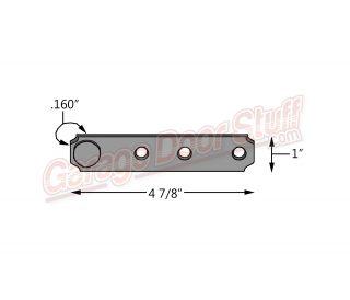 Genie Garage Door Rail Strap 22766R04.S line drawing