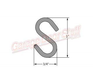 Sash Chain S Hook Line Drawing