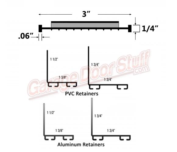 Garage Door Bottom Weather Seal Kit Line Drawing