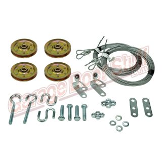 Garage Door Pulley Kit With Cables