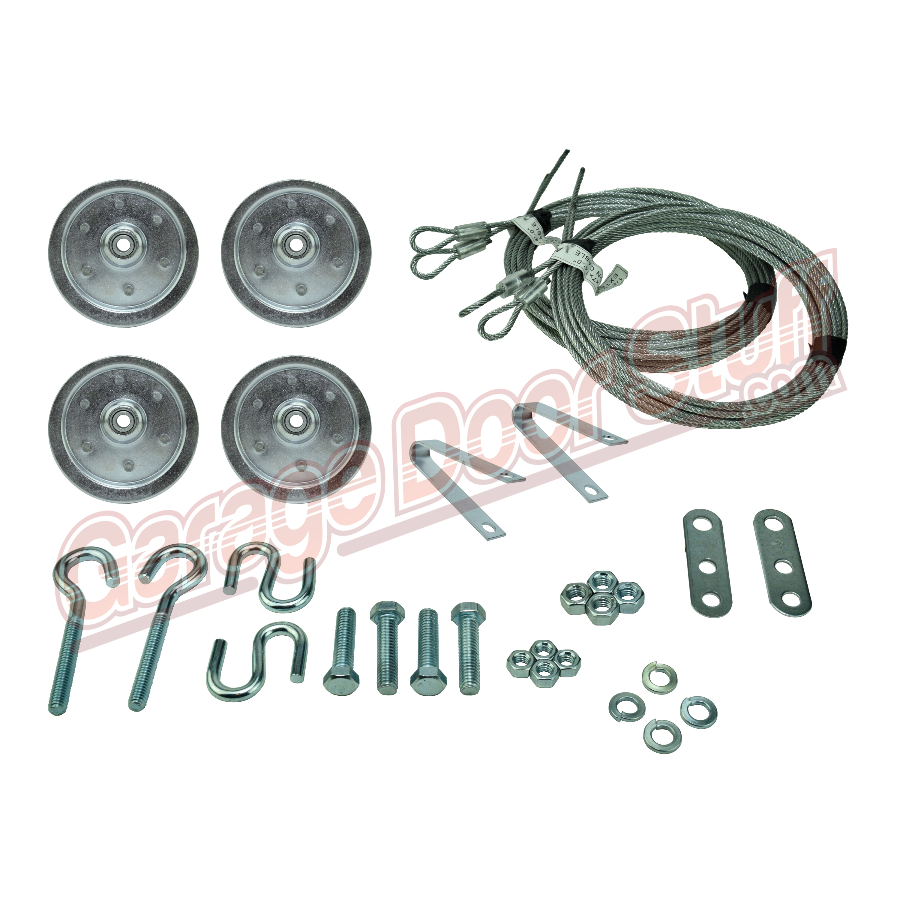 """Extension Spring 3/"""" Pulley Kit Garage Door Sheave Hardware Included"""
